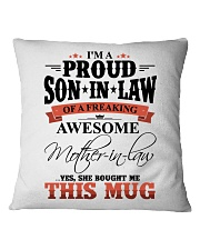 MOM TO SON IN LAW Square Pillowcase thumbnail