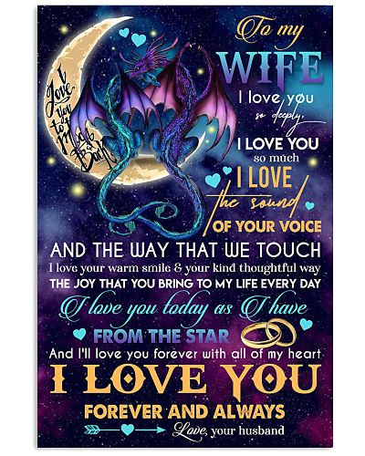 TO MY WIFE - DRAGON - I LOVE YOU