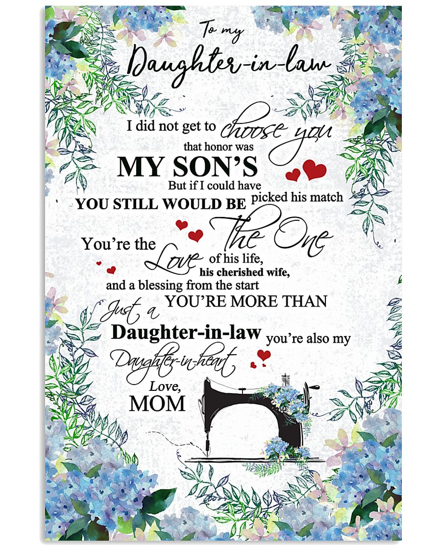 MOM TO DAUGHTER IN LAW 16x24 Poster