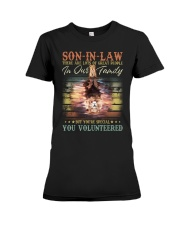 Son-in-law - Lion - You Volunteered - T-Shirt Premium Fit Ladies Tee thumbnail