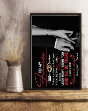 TO MY FIANCÉE - HAND IN HAND - I LOVE YOU 16x24 Poster lifestyle-poster-3