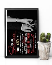 TO MY FIANCÉE - HAND IN HAND - I LOVE YOU 16x24 Poster lifestyle-poster-8