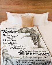 """TO MY AMAZING NEPHEW Large Fleece Blanket - 60"""" x 80"""" aos-coral-fleece-blanket-60x80-lifestyle-front-02"""