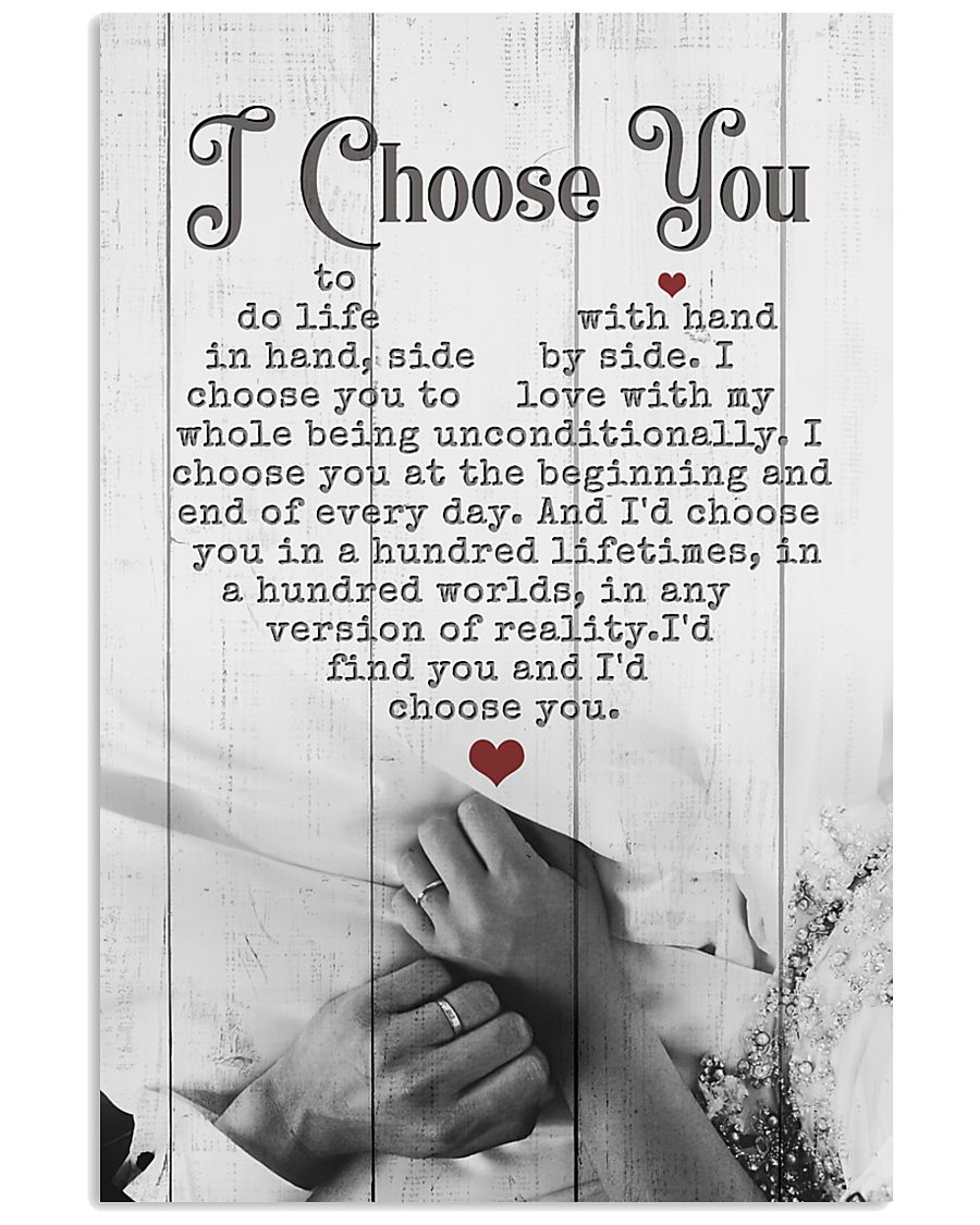 HUSBAND AND WIFE - HAND IN HAND - I CHOOSE YOU 16x24 Poster