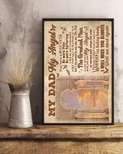 To My Angel Dad - Poster 16x24 Poster lifestyle-poster-3