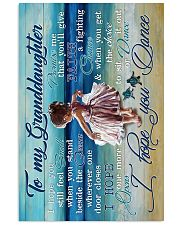 To My Granddaughter - Beach - I Hope You Dance Vertical Poster tile