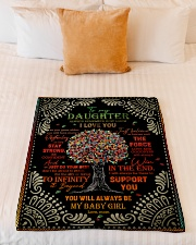 """Daughter - Red Tree - Always Remember How Much Small Fleece Blanket - 30"""" x 40"""" aos-coral-fleece-blanket-30x40-lifestyle-front-04"""