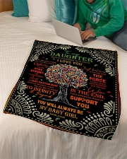 """Daughter - Red Tree - Always Remember How Much Small Fleece Blanket - 30"""" x 40"""" aos-coral-fleece-blanket-30x40-lifestyle-front-07"""