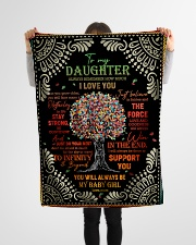 """Daughter - Red Tree - Always Remember How Much Small Fleece Blanket - 30"""" x 40"""" aos-coral-fleece-blanket-30x40-lifestyle-front-14"""