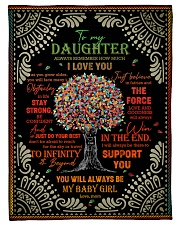 """Daughter - Red Tree - Always Remember How Much Small Fleece Blanket - 30"""" x 40"""" front"""