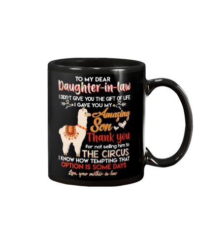 TO MY DAUGHTER-IN-LAW - LLAMA - CIRCUS