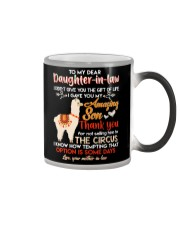 TO MY DAUGHTER-IN-LAW - LLAMA - CIRCUS Color Changing Mug tile