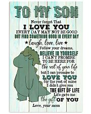 Mom To Son - T rex - Never Forget That I Love you 16x24 Poster front