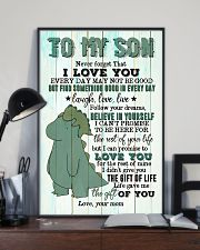 Mom To Son - T rex - Never Forget That I Love you 16x24 Poster lifestyle-poster-2
