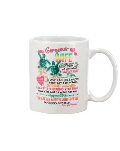 MUG - TO MY WIFE - TURTLE - MY HAPPILY EVER AFTER