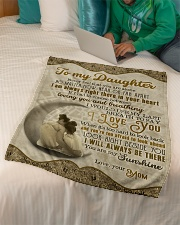 """To Daughter - Never Feel That You Are Alone  Small Fleece Blanket - 30"""" x 40"""" aos-coral-fleece-blanket-30x40-lifestyle-front-07"""