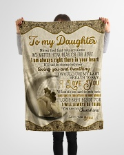 """To Daughter - Never Feel That You Are Alone  Small Fleece Blanket - 30"""" x 40"""" aos-coral-fleece-blanket-30x40-lifestyle-front-14"""
