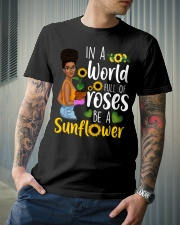 In a world full of roses be a sunflower Classic T-Shirt lifestyle-mens-crewneck-front-6