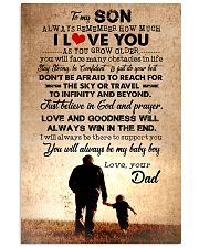 To Son - Always Remember How Much - Canvas 11x17 Poster thumbnail
