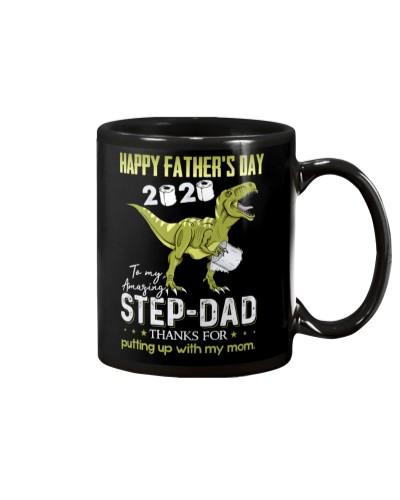 MUG - TO MY BONUS DAD - FATHER'S DAY - DINOSAUR