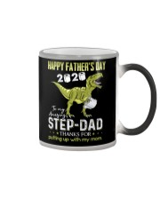 MUG - TO MY BONUS DAD - FATHER'S DAY - DINOSAUR Color Changing Mug thumbnail
