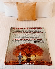 """To My Daughter - Halloween Tree - Never Feel That Small Fleece Blanket - 30"""" x 40"""" aos-coral-fleece-blanket-30x40-lifestyle-front-04"""
