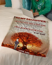 """To My Daughter - Halloween Tree - Never Feel That Small Fleece Blanket - 30"""" x 40"""" aos-coral-fleece-blanket-30x40-lifestyle-front-07"""