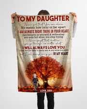 """To My Daughter - Halloween Tree - Never Feel That Small Fleece Blanket - 30"""" x 40"""" aos-coral-fleece-blanket-30x40-lifestyle-front-14"""