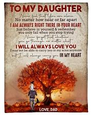 "To My Daughter - Halloween Tree - Never Feel That Small Fleece Blanket - 30"" x 40"" front"