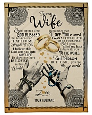 To My Wife - Once Upon A Times God Blessed  Fleece Blanket tile
