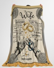 """To My Wife - Once Upon A Times God Blessed  Large Fleece Blanket - 60"""" x 80"""" aos-coral-fleece-blanket-60x80-lifestyle-front-10"""