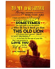 Daughter - Lion- Always Remember Who You Are  11x17 Poster thumbnail