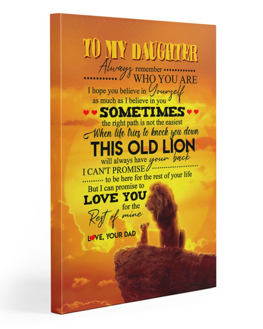Daughter - Lion- Always Remember Who You Are  20x30 Gallery Wrapped Canvas Prints