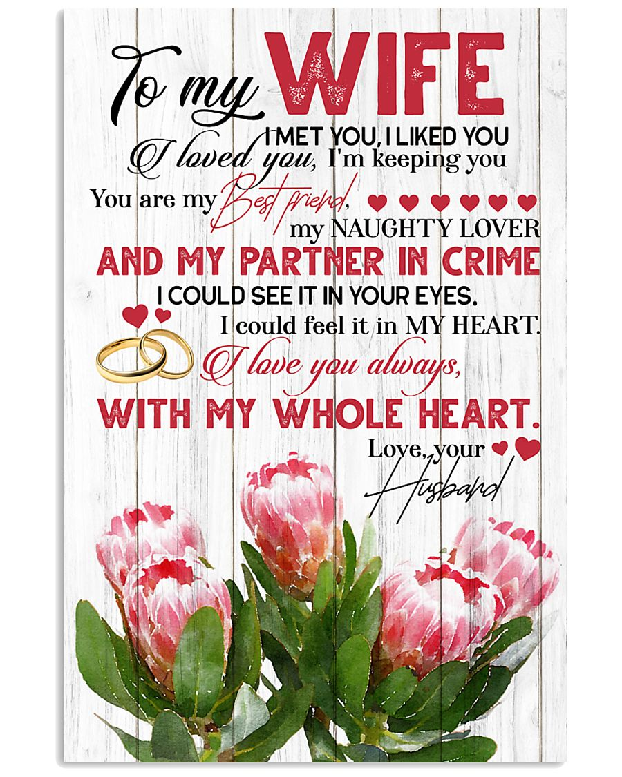 TO MY WIFE - KING PROTEA - I LOVE YOU 16x24 Poster