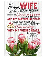 TO MY WIFE - KING PROTEA - I LOVE YOU 16x24 Poster front