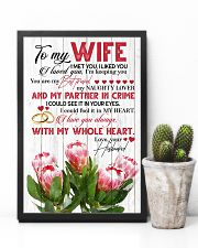 TO MY WIFE - KING PROTEA - I LOVE YOU 16x24 Poster lifestyle-poster-8