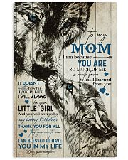 TO MY MOM - WOLF - MY LOVING MOTHER 16x24 Poster front