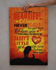 To Daughter - Lion - Never Forget That I Love You 20x30 Gallery Wrapped Canvas Prints aos-canvas-pgw-20x30-lifestyle-front-29