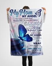 """FLEECE BLANKET - TO MY ANGEL MOM Small Fleece Blanket - 30"""" x 40"""" aos-coral-fleece-blanket-30x40-lifestyle-front-14"""