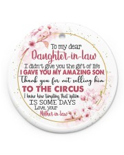 To My Daughter-in-law - Floral Sakura - Circus Circle ornament - single (porcelain) front