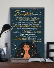To Daughter - Always Remember You Are Made Of 16x24 Poster lifestyle-poster-2