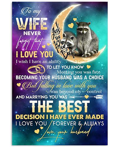 TO MY WIFE - RACCOON - I LOVE YOU