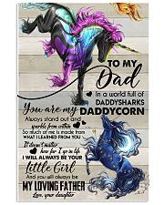 POSTER - TO MY DAD - UNICORN 16x24 Poster front