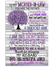 TO MY MOTHER-IN-LAW - TREE - THANK YOU 16x24 Poster front