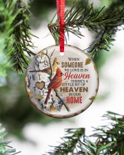 Angel - There's A Little Bit Of Heaven In Home Circle ornament - single (porcelain) aos-circle-ornament-single-porcelain-lifestyles-07