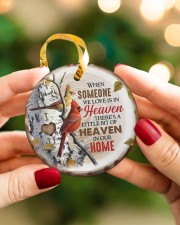 Angel - There's A Little Bit Of Heaven In Home Circle ornament - single (porcelain) aos-circle-ornament-single-porcelain-lifestyles-08