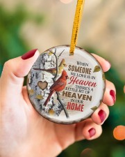 Angel - There's A Little Bit Of Heaven In Home Circle ornament - single (porcelain) aos-circle-ornament-single-porcelain-lifestyles-09