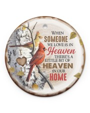 Angel - There's A Little Bit Of Heaven In Home Circle ornament - single (porcelain) front