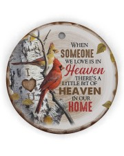 Angel - There's A Little Bit Of Heaven In Home Circle ornament - single (wood) thumbnail