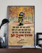 To My Dad - Firefighter - Poster 16x24 Poster lifestyle-poster-2